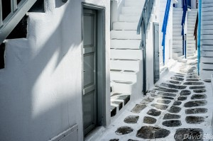 Mykonos Street and Stairs