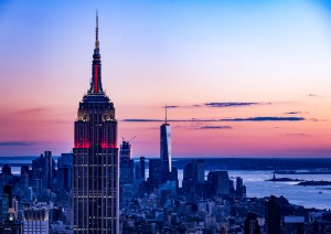 Empire State after sunset