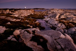 Moonrise after Sunset, Peggys Cove