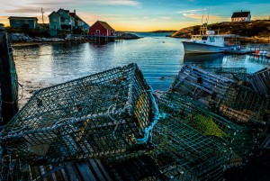 Lobster Pots at Sunset, Peggys Cove